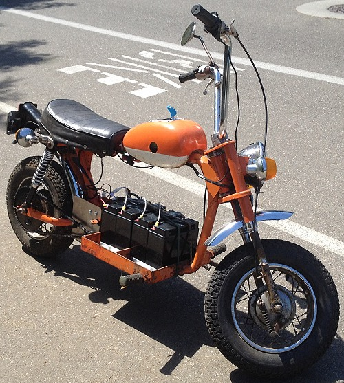 Custom Built Electric Scooter Bicycle 3 Wheeler And Go
