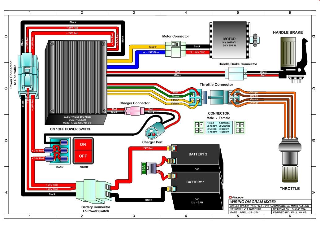 razor mx350 dirt rocket electric dirt bike parts Razor E 300 Battery Wiring Info Razor E 300 Battery Wiring Info