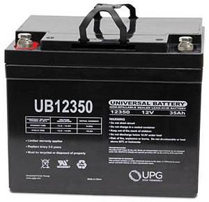 12 Volt 35 Ah Amp Hour Mobility Scooter Battery Bolt Down Posts 12v 35ah Model Ub12350 Electric Or Chair