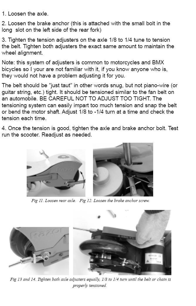 Razor E100 Electric Scooter Parts Manual Guide