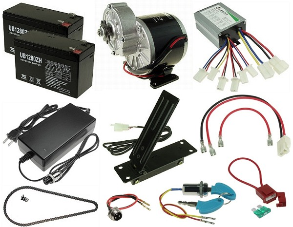 24 Volt 350 Watt Electric Go Kart Kit Kit 137