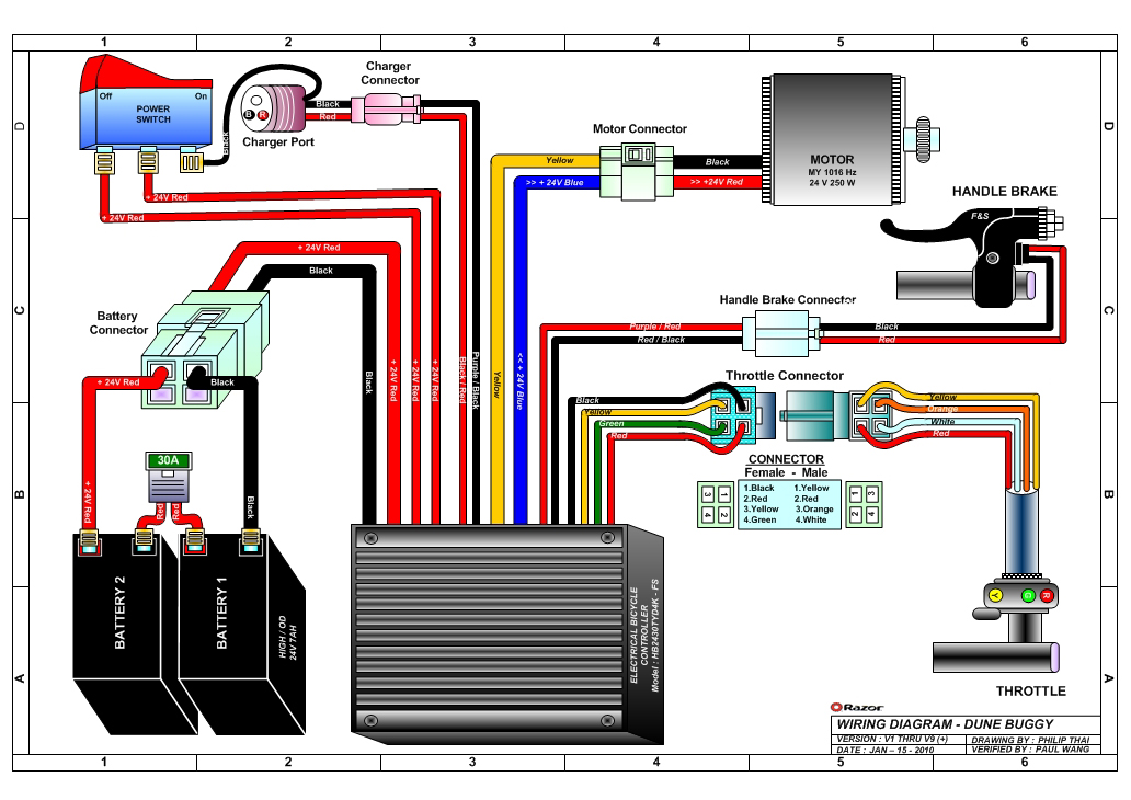 razor e100 scooter wiring diagram   33 wiring diagram