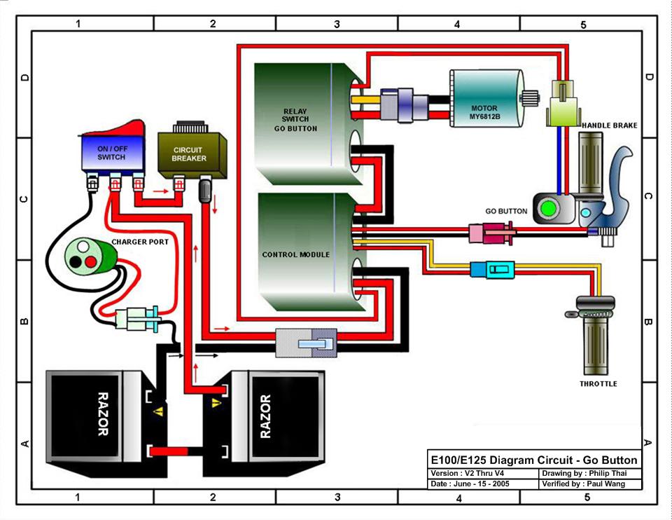 Razor E100 Electric Scooter Parts