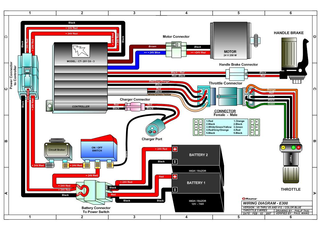 Razor E325 Electric Scooter Parts